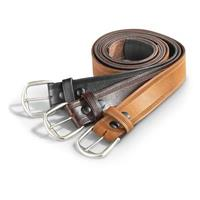 Guide Gear Men's Work Belt, Black / Brown / Boot Tan