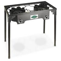 Deluxe 2-burner Cast Iron Camp Stove