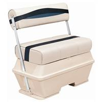 Wise® Premier Cooler Flip-Flop Pontoon Seat, Color A - Platinum Punch / Navy / Cobalt
