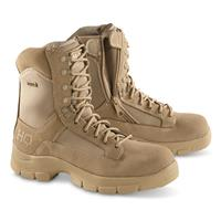 HQ ISSUE Men's Waterproof Side-zip Combat Boots,   Desert Tan