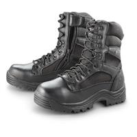 HQ ISSUE Men's Side Zip Tactical Boots, Waterproof, Black