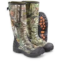 "Guide Gear Men's 17"" Insulated Rubber Hunting Boots, 2,400 Gram, Mossy Oak Break-Up Infinity (Right) and Realtree Xtra (Left)"