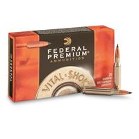 Federal Premium Vital-Shok, .338 Win. Mag., Lead Free Trophy Copper BT, 225 Grain,, 20 Rounds