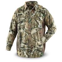 Mossy Oak® Color-block 6-oz., 100% Cotton Brushed Twill Shirt