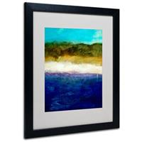 """Abstract Dunes Study"" Framed Matted Art by Michelle Calkins, Black"