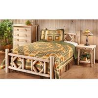 Queen CASTLECREEK Diamond Cedar Log Bed