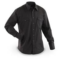Men's Wrangler® Western Long-sleeved Broadcloth Shirt, Black