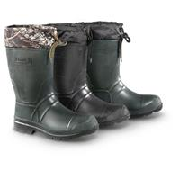 Kamik Men's Insulated Rubber Rain Boots • Pictured from Left to Right: Camo, Black, Khaki