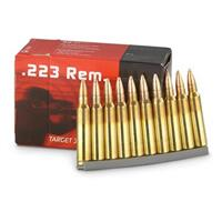 Geco, .223 Remington, FMJ with Stripper Clips, 55 Grain, 50 Rounds