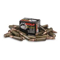 Wolf, 7.62x39mm, FMJ, 123 Grain, 1,000 Rounds