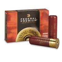 "Federal Premium, 12 Gauge, 3"" 15 Pellets, 00 Buck Buckshot, 5 Rounds"