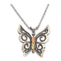 Black Hills Gold Sterling Butterfly Necklace