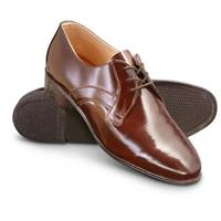 New Men's Czech Military Surplus Leather Shoes, Brown