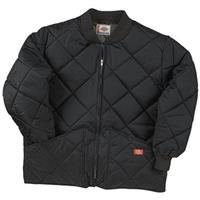 Dickies® Diamond Quilted Nylon Work Jacket, Black
