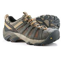 KEEN Utility Men's Flint Low Steel Toe Work Shoes, Shiitake / Rust
