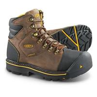 "Men's KEEN Utility Milwaukee 6"" Steel Toe Waterproof Boots, Dark Earth"