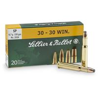 Sellier & Bellot Rifle, .30-30 Winchester, 150 Grain, SP, 20 Rounds