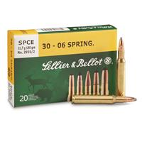 Sellier & Bellot,.30-06 Springfield, SPCE, 180 Grain, 20 Rounds