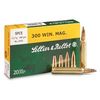 Sellier & Bellot®, .300 Win. Mag., SPCE, 180 Grain, 20 Rounds