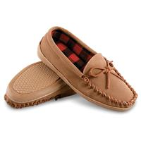 Guide Gear Men's Leather Trapper Moccasins, Tan