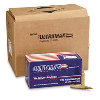 Ultramax Remanufactured, .223 Varmint, SHP, 52 Grain, 250 Rounds