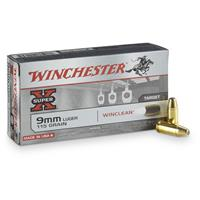 Winchester® USA Handgun WinClean® 9mm Luger 115 Grain BEB 50 rounds