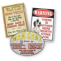 3-Pc. Set of Man Cave Signs