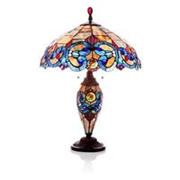 River of Goods Stained Glass Double-Lit Table Lamp
