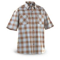 Guide Gear® Cool Plaid Short-sleeved Shirt, Blue