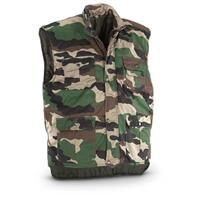 Military Surplus Men's Quilted Vest, New