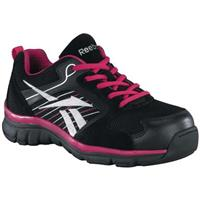 Women's Reebok® Composite Toe Sports Oxford Shoes, Black / Pink