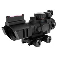 AIM® Sports 4x32 Tri-Illuminated Scope With Red Fiber Optic Sight