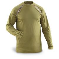 2-Pk. of Men's Guide Gear Performance Long-sleeved Tees, Olive / Realtree AP