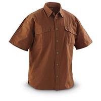 Guide Gear Short-sleeved Ripstop Work Shirt, Bison