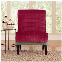 Sure Fit® Quilted Velvet Furniture Friend Armless Chair Slipcover, Burgundy