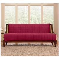 Sure Fit® Quilted Velvet Furniture Friend Armless Sofa Slipcover, Burgundy