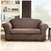 Sure Fit® Middleton Stretch Leather 2-Pc. Sofa Slipcover, Brown