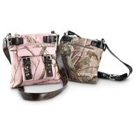 Women's Realtree® Messenger Bag, Realtree AP® / Dark Brown - Realtree APG® / Black