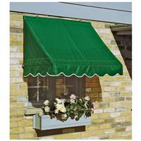 CASTLECREEK 6' Window and Door Awning, Hunter Green • Come in 3 widths: 4 feet, 6 feet, or 8 feet, to fit a variety of windows and doors!