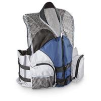 Guide Gear Sport Mesh Fishing Life Vest, Blue / Gray
