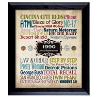 A Year in Time Celebration Personalized Framed Print