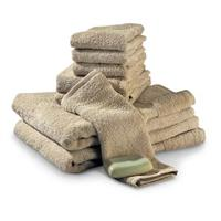 8-Pc. Cotton Bath Towel Set, Khaki