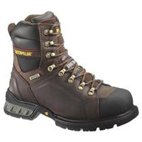 "Men's Cat® Footwear 8"" Excavator Waterproof Insulated Steel Toe Work Boots, Dark Brown"