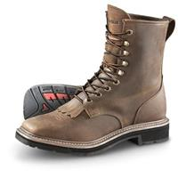 Men's Guide Gear Square Toe Lacer Boots, Brown