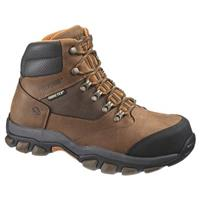 Men's Wolverine® Harden GORE-TEX® Waterproof Steel Toe EH Hiker Work Boots, Brown / Orange