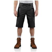 Carhartt® Twill Cell Phone Work Shorts, Black