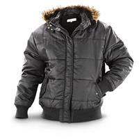 Hunter Brand Men's Quilted Fleece-lined Jacket, Black