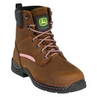 Women's John Deere® Steel Toe Lace-up Boots, Brown / Pink
