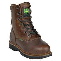 Men's John Deere 8 inch Steel Toe Met Guard Pot Room Work Boots, Brown