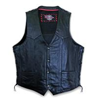 Men's Side Lace with Gun Pocket Vest by Milwaukee Motorcycle Clothing Company®